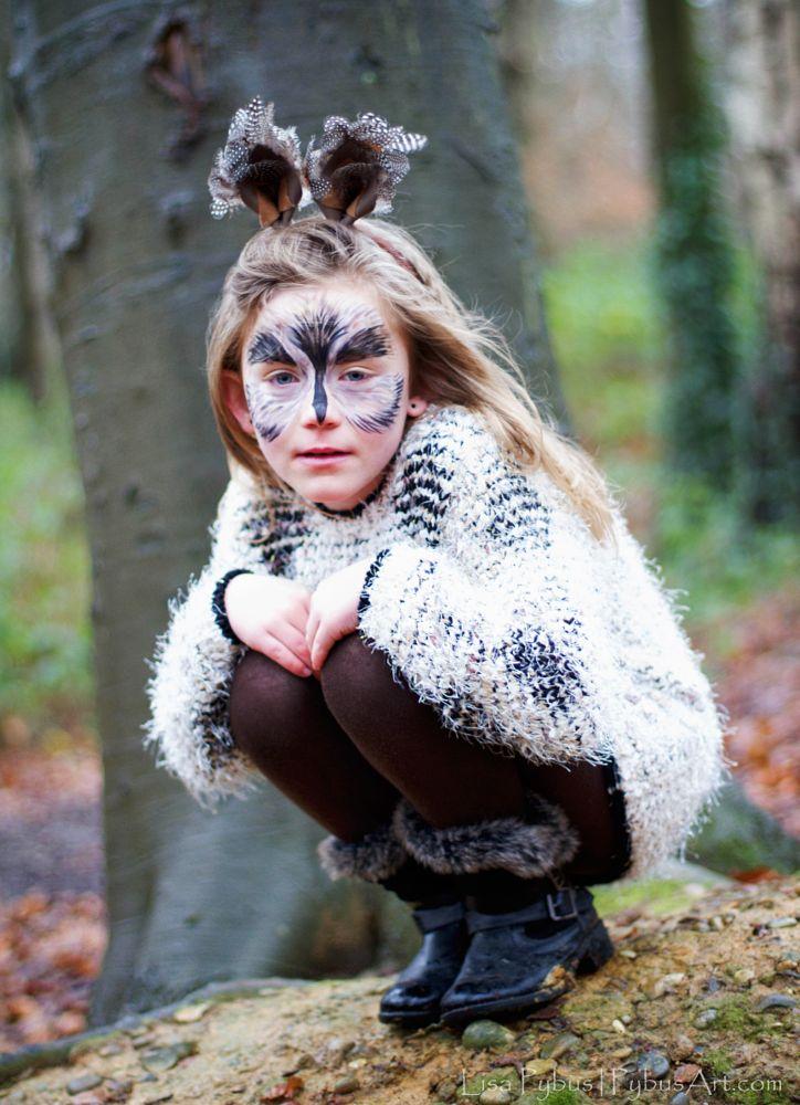 Photo in People #owl #woods #rain #character #child #portrait x #fauna
