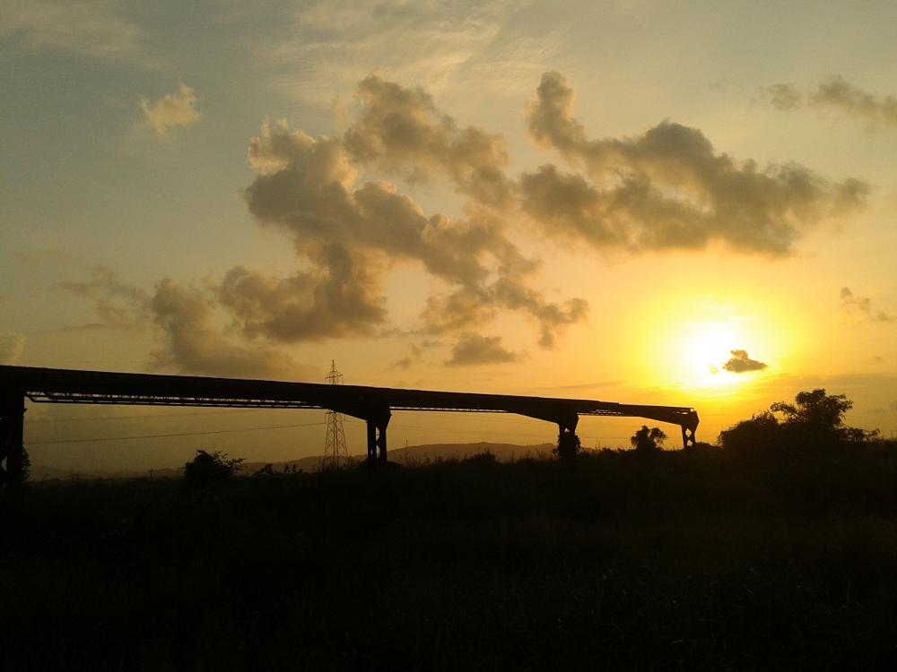 Photo in Nature #sunset #mobile photography #mumbai local #india