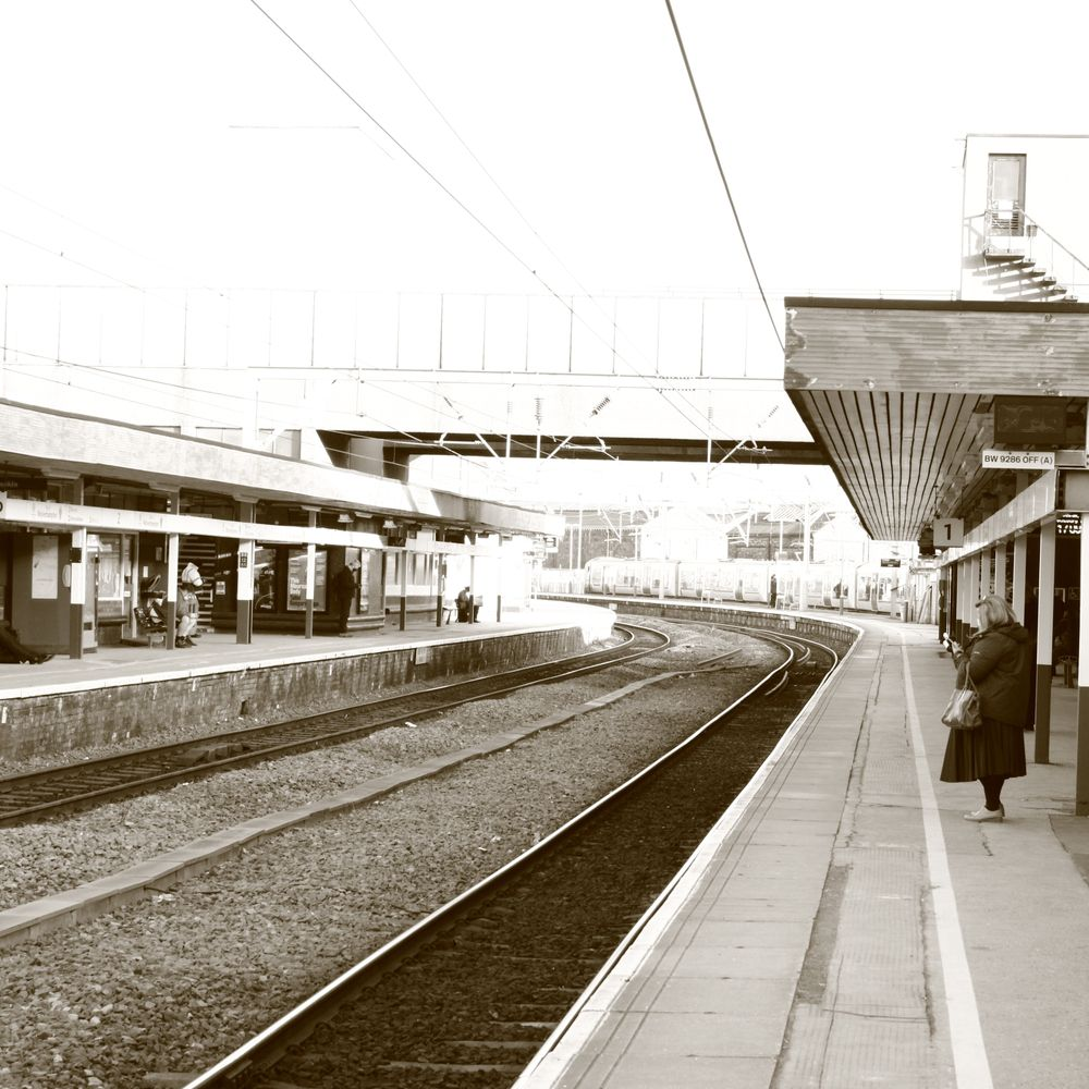 Photo in Urban #urban #train #people #sepia #bmw #black and white #monochrome #instagram