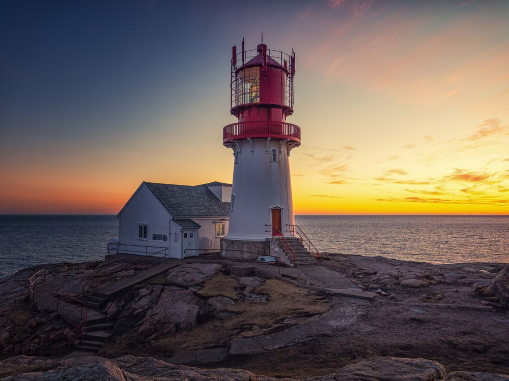 Photo in Landscape #landscape #lighthouse #view #nature #sunset