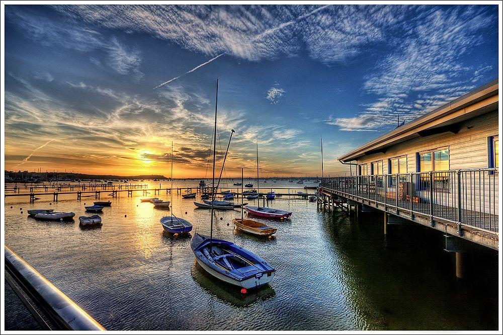 Photo in Landscape #hdr poole england sunset s #england dorset lake anglia