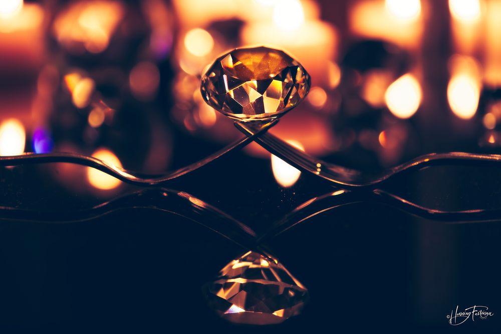 Photo in Still Life #diamond #fork #forks #bokeh