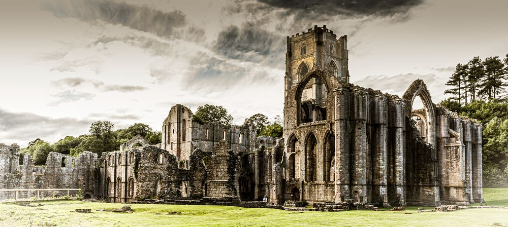 Photo in Architecture #abbey #fountains #yorkshire #dales #church #building
