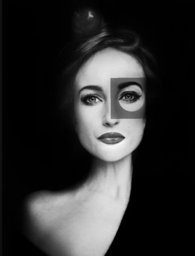 Photo in Portrait #portrait womanrobotblackwhi