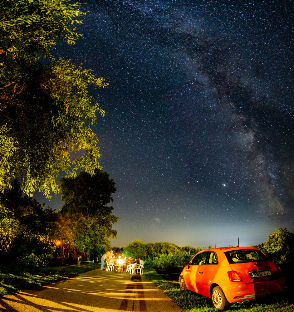 Photo in Astrophotography #milky way #fiat500 #astrophotography