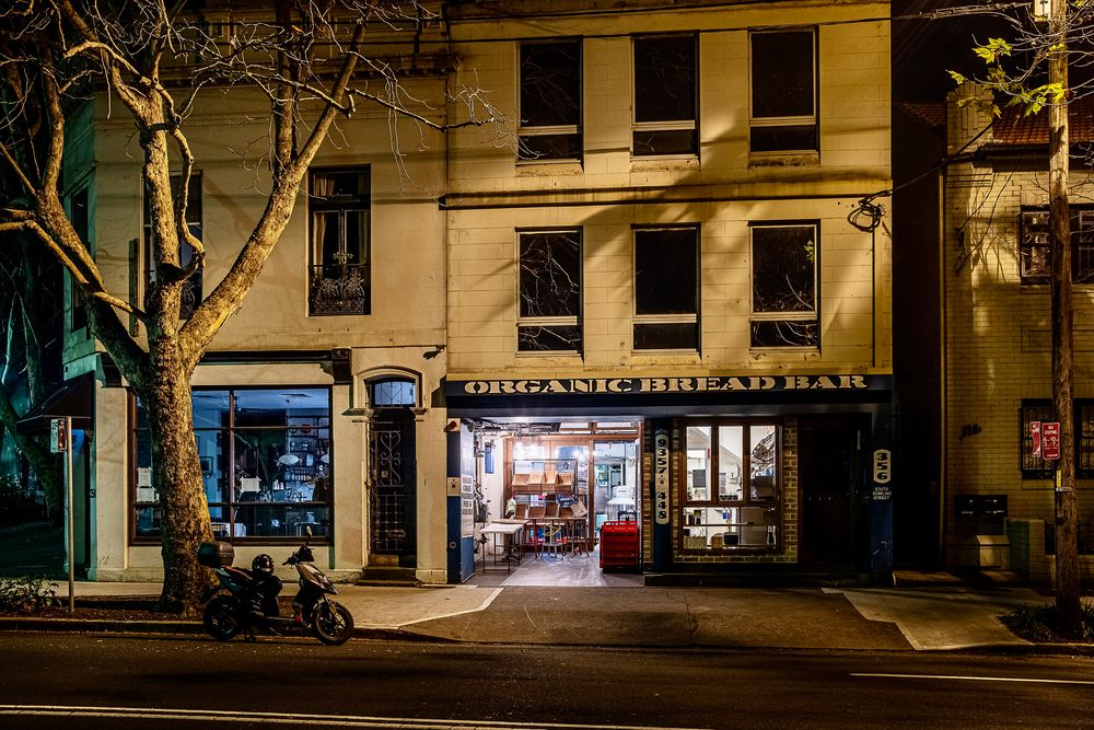Photo in Random #bakery #sydney #night #dark #shadow #urban