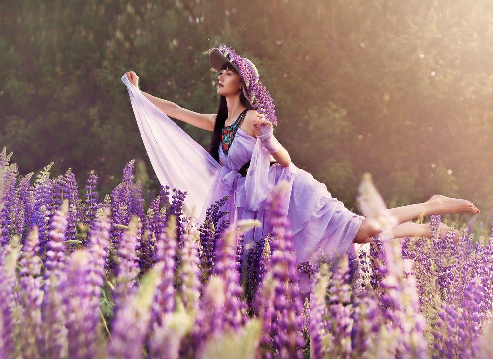 Photo in Fine Art #fantasy #art photo #fine art #женский портрет #portrait #fairy #девушка с люпинами #люпины #лето