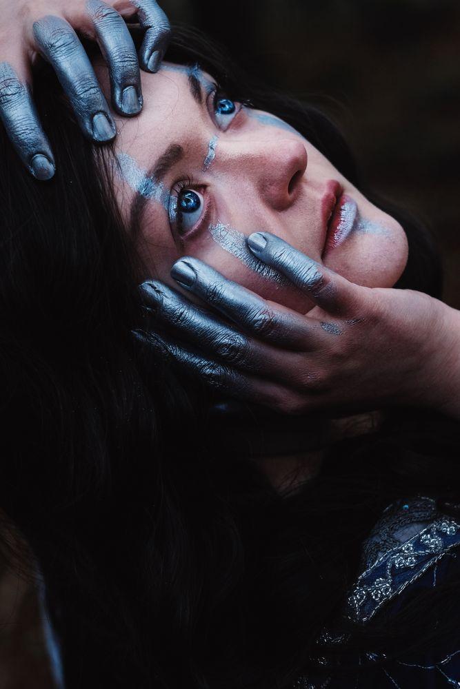 Photo in Portrait #portrait #makeup #macro #fantasy #seelenfang #expression #emotion