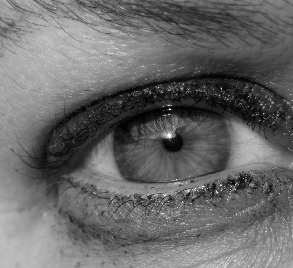 Photo in Black and White #eye #b&w #monochrome #eyelashes #pupil