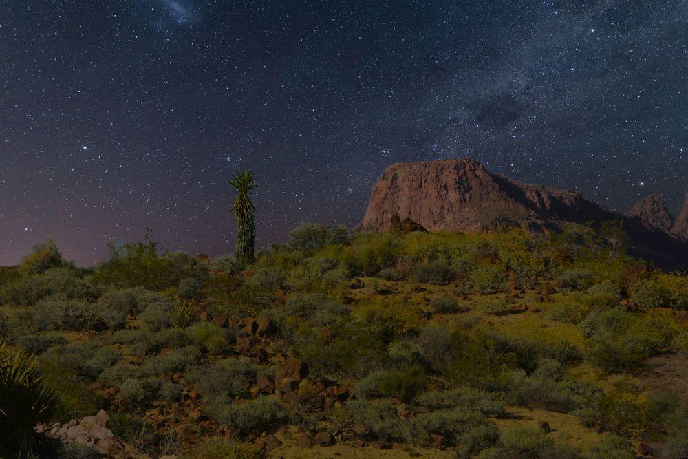 Photo in Landscape #night sky #desert #stars #hills #milkyway