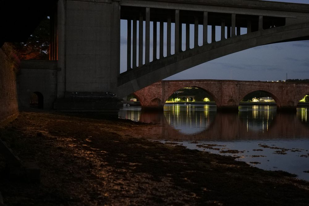 Photo in Architecture #night #bridge #dusk