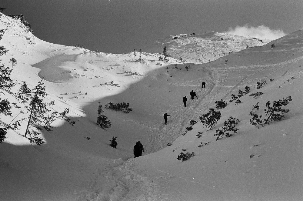 Photo in Landscape #hike #black and white #analogue #nature #mountains #landscape