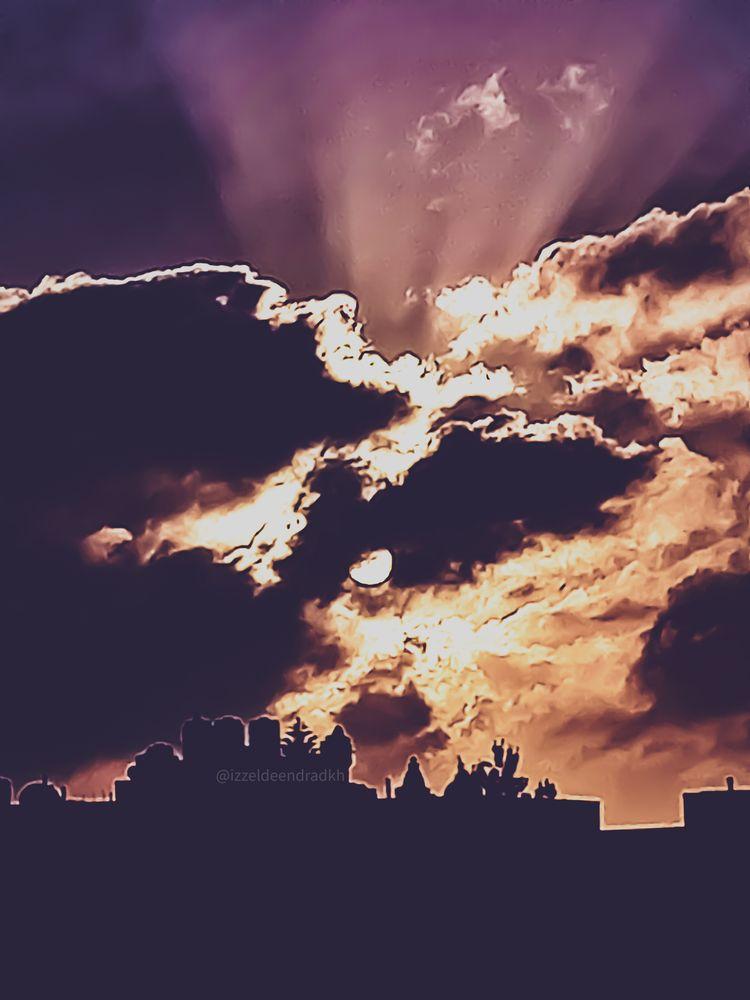 Photo in Nature #celestial #skyscape #morning #izzeldeen dradkh #izzeldeen #dradkh