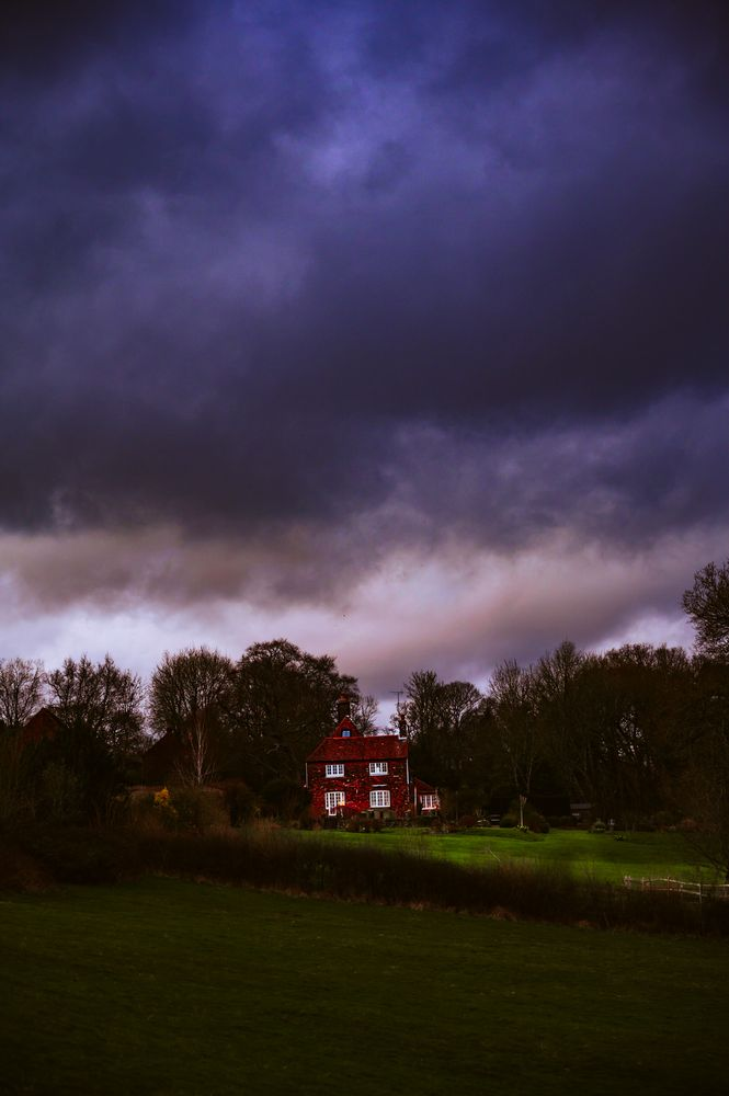 Photo in Landscape #country house #isolated #isolation #darkness #dramatic #sussex #england #clouds