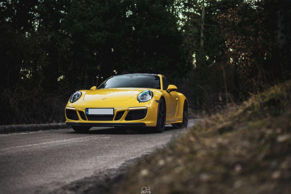 Photo in Random #porsche #porsche 911 #porsche 911 carrera #porsche 911 carrera gts #porsche carrera #carrera gts #automotive #racing yellow #forest #nikon #luxory #supercar #christopair gallery