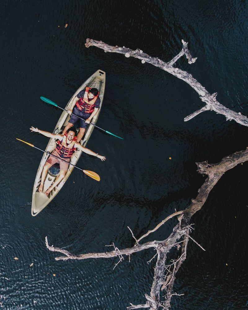 Photo in Aerial #kayaking #aerialphotography #droneshot #drone #nature #dji