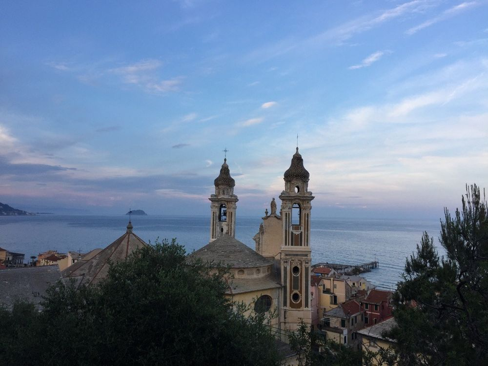 Photo in Nature #church #wild #landscape #italy #sea #sunset #colours #isola #tree #sea #clouds #nofilter