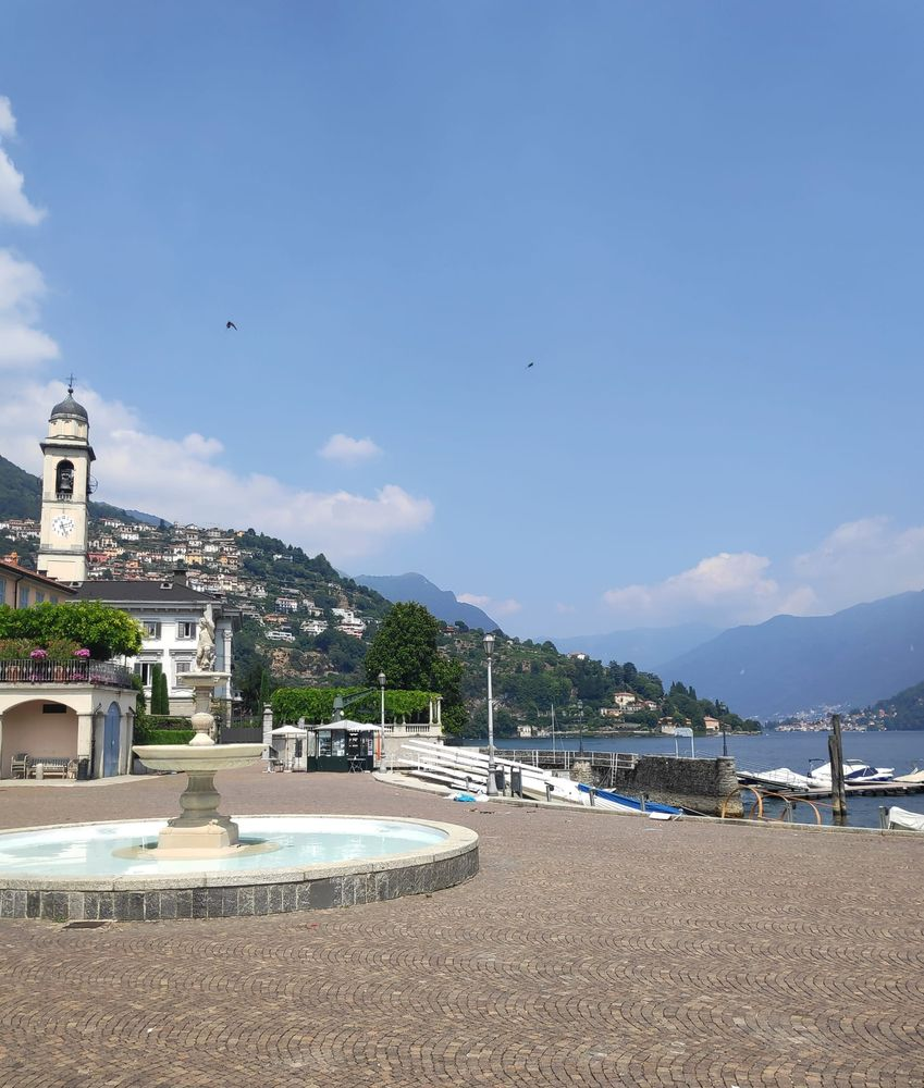 Photo in Nature #como #italy #lake #landscape #architecture #church #water #birds #nature #boats #mountains #sun #day #sunnyday #followforfollow