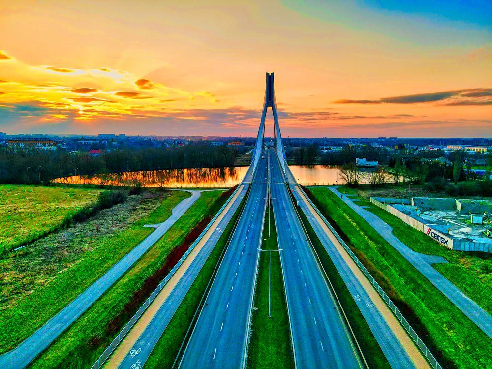 Photo in Random #bridge #rzeszów #rzeszow #drone #dji #mavic #mavic air 2