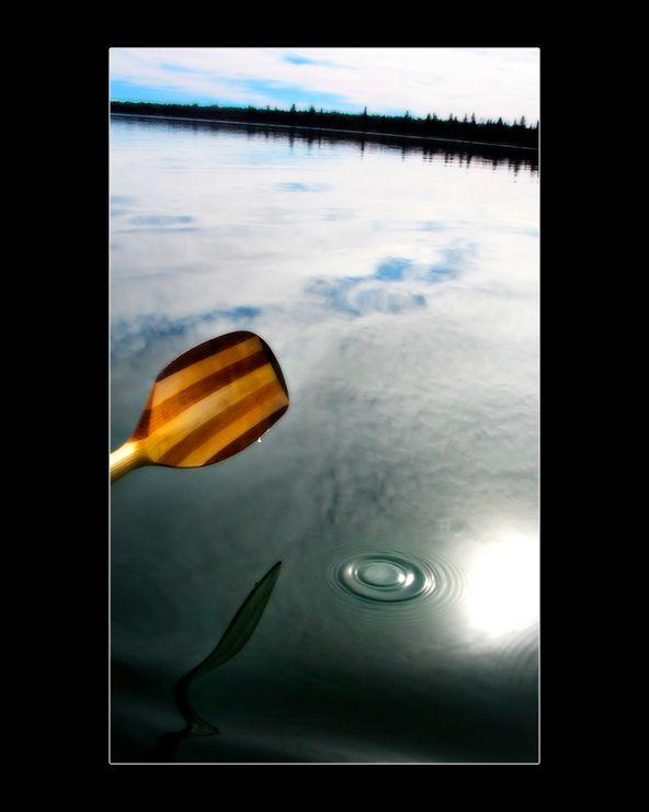 Photo in Landscape #paddle #lake #kayak #water #ripple