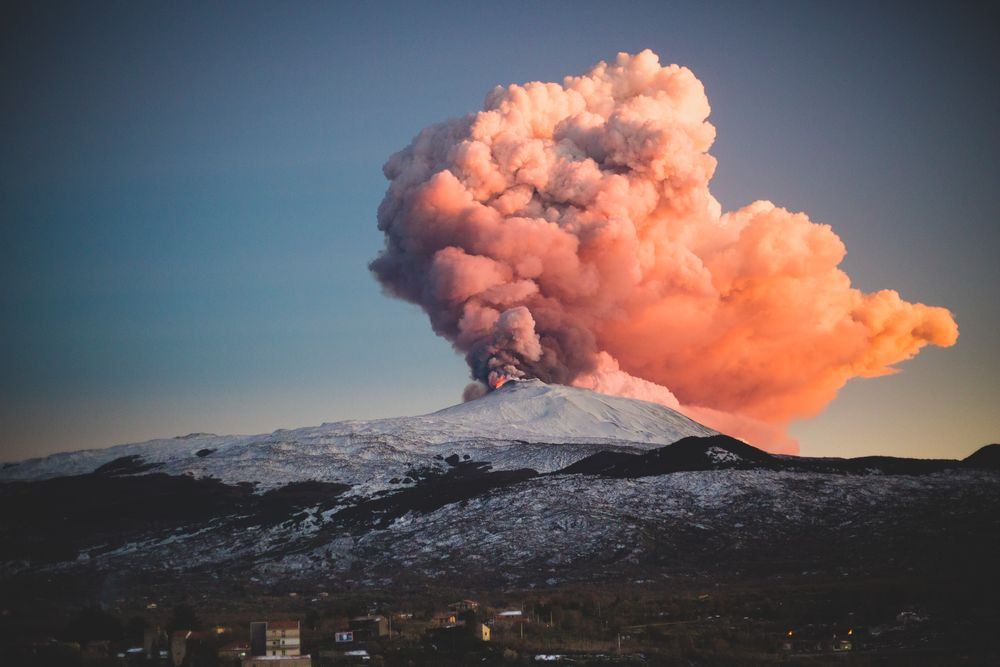 Photo in Nature #etna #nature #explosion #cloud #mountain