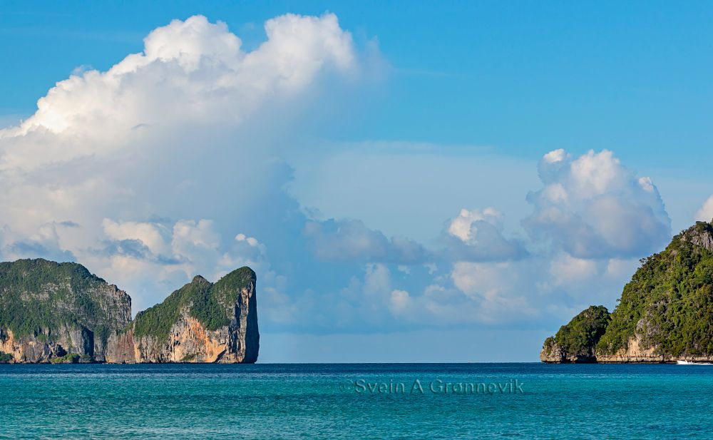 Photo in Sea and Sand #phi phi island #island #tropical island #phi phi don #sea #ocean #andaman sea #thailand #tourism #travel #boat