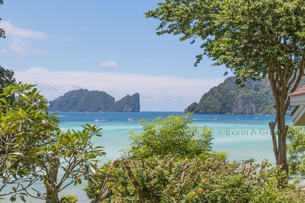 Photo in Sea and Sand #phi phi islands #phi phi don #phi phi leh #thailand #sea #beach #ocean #andaman sea #island #tropical island #travel #tourism #scuba dive #boats