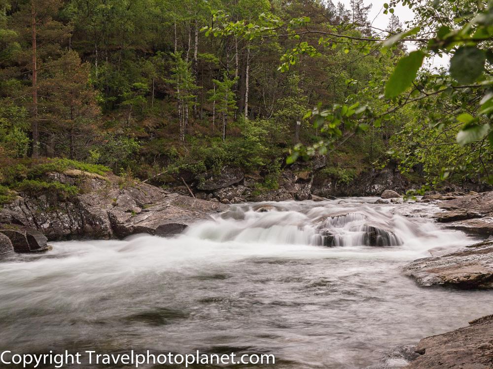 Photo in Landscape #river #slow shutterspeed #nature #mountain #ice water #landscape #kvamskogen #norway