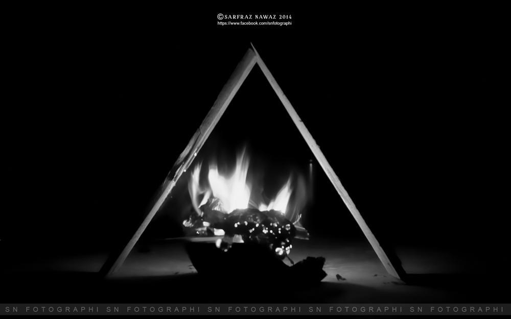 Photo in Black and White #winterfirebalance