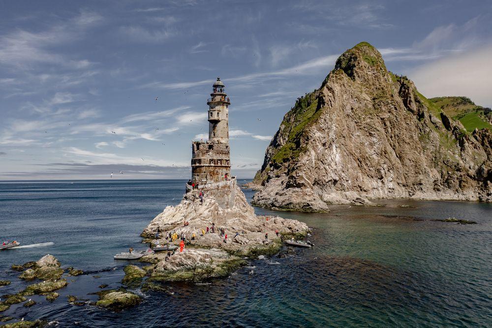 Photo in Travel #drone #lighthouse #yuzhno-sakhalinsk #sakhalin