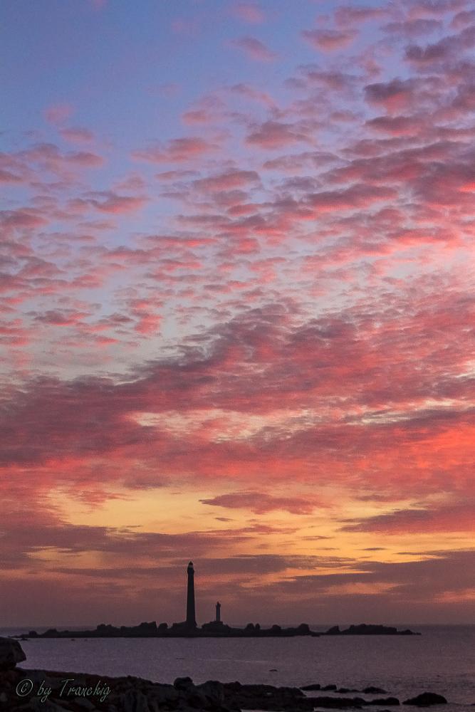 Photo in Landscape #europe #france #finistère #brittany #bretagne #phare #lighthouse #sun #sunset #mer #sea #color