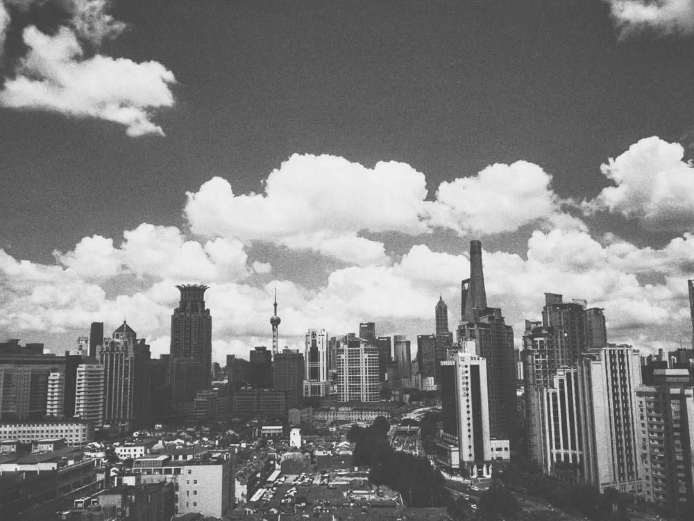 Photo in Black and White #cloud #architecture #black and white #nature #sky #landscape #noir #vintage #city scape