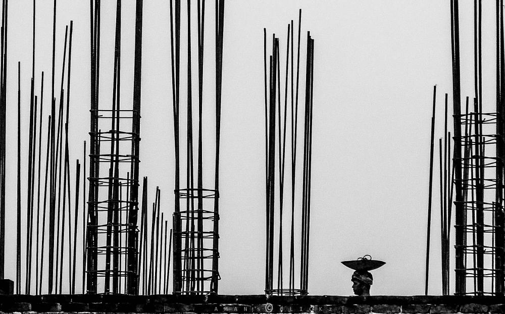 Photo in People #b&w #life #people #day laborer