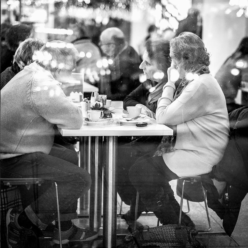 Photo in Street Photography #street #window #blackandwhite #restaurant