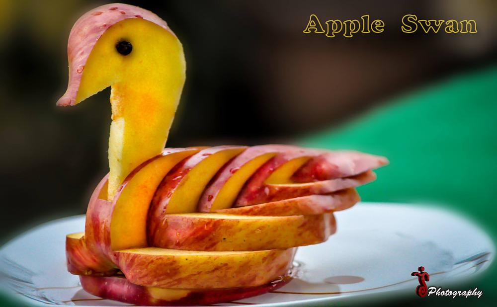 Photo in Fine Art #apple wan #swan #apple #fine art #art