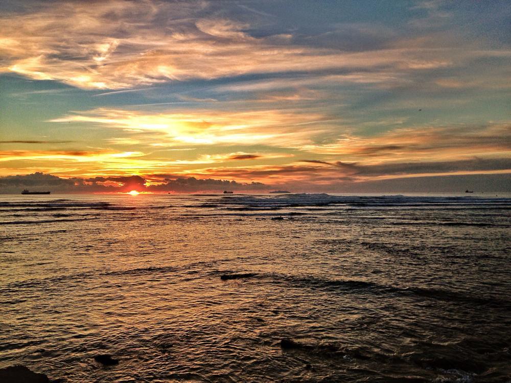 Photo in Landscape #sunset #quiet #sun #sea