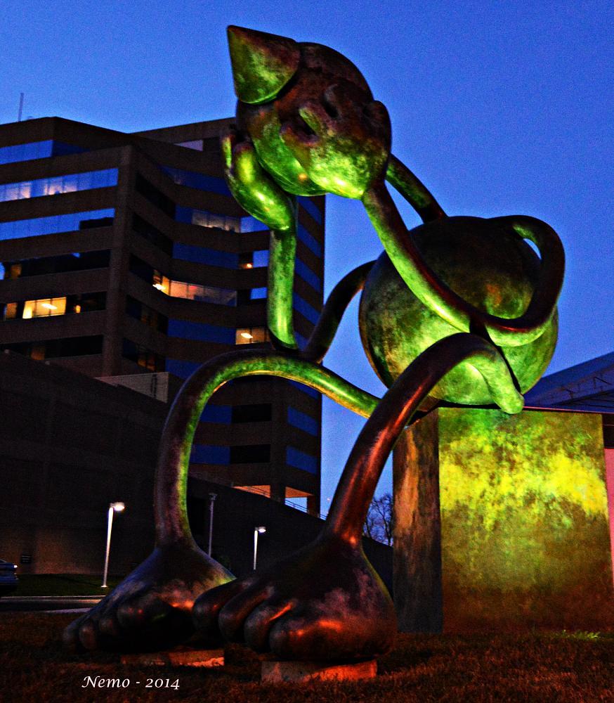 Photo in Fine Art #eosthetitan #sculpture #modernart #kansascity #kempermuseum #cityscape #olitski