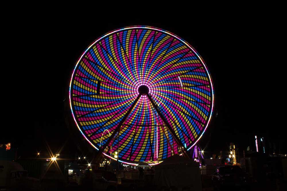 Photo in Random #ferris wheel #fair #night #color