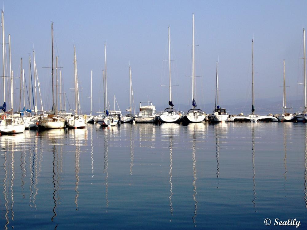 Photo in Landscape #boats #harbor #reflection #sailing boats #sea #france