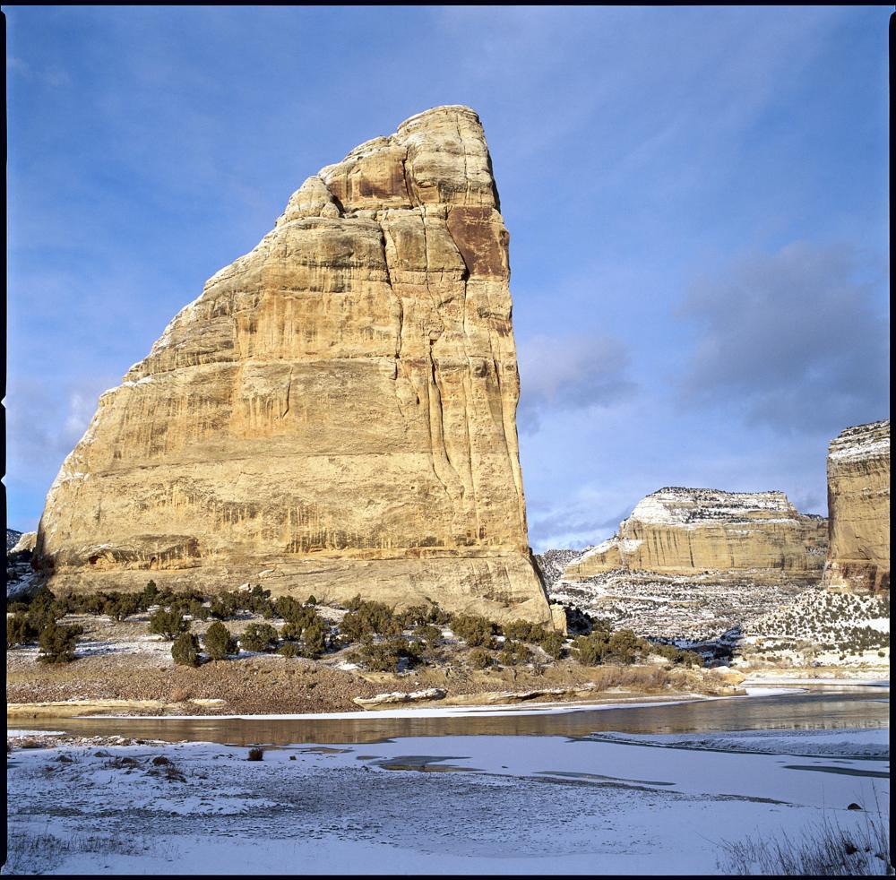 Photo in Landscape #steamboat rock #echo park #dinosaur national park #winter