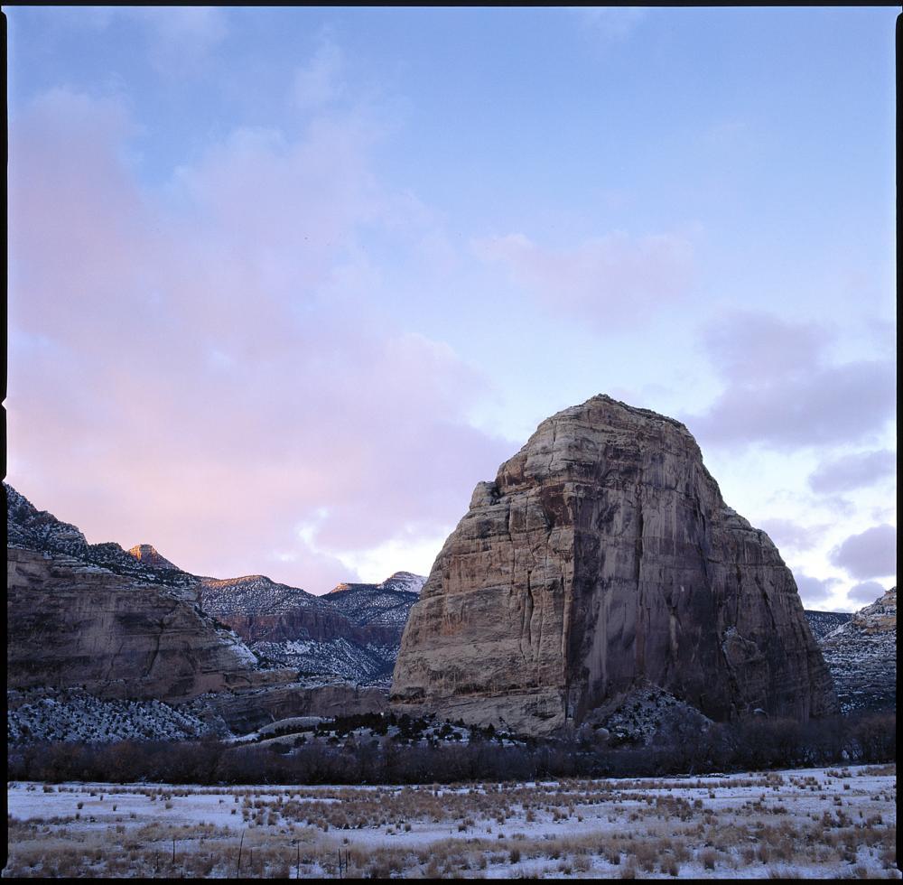 Photo in Landscape #steamboat rock #echo park #dinosaur national monument. #sunset