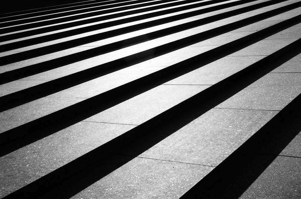 Photo in Architecture #black and white #steps