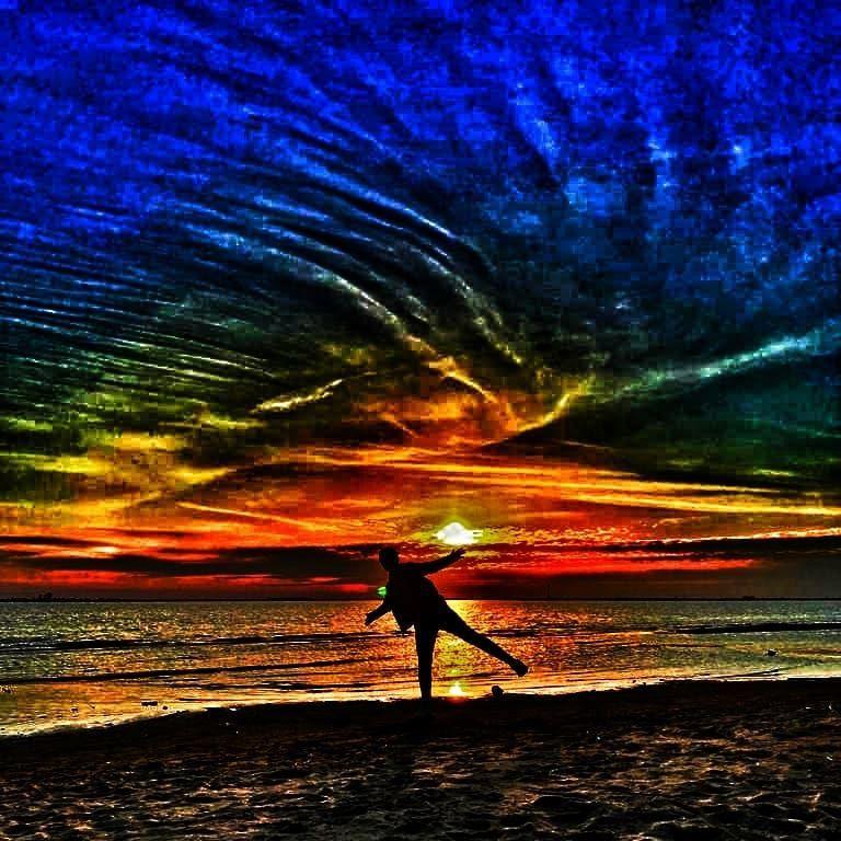 Photo in Landscape #landscape #beach #siluette #sky #color #sunset #закат #пейзаж #пляж #силуэт #небо