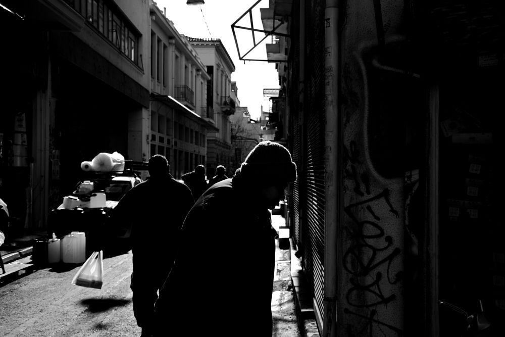Photo in Street Photography #black&white #monochrome #street #urban #athens