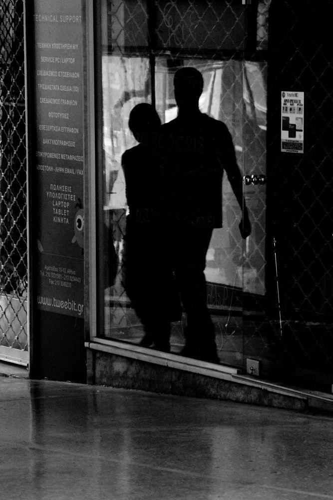 Photo in Street Photography #black&white #monochrome #street #shadows #reflection #urban #athens