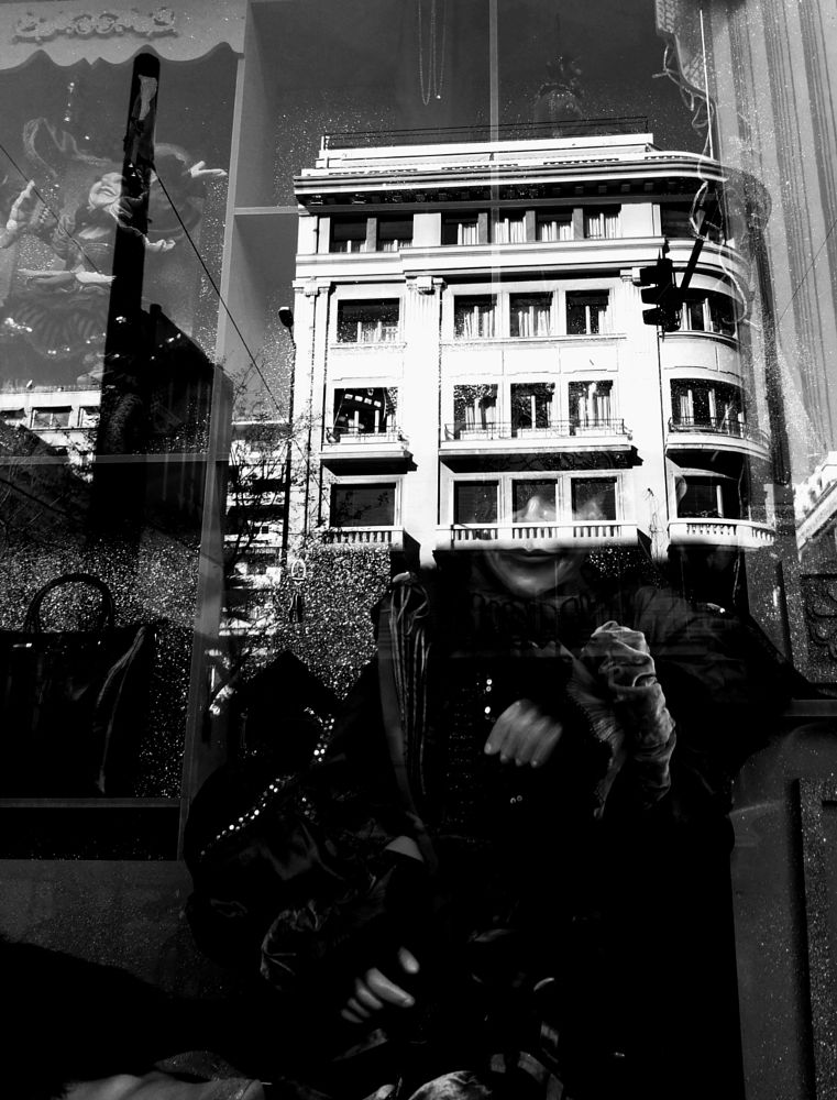 Photo in Street Photography #black&white #monochrome #street #reflections #city #vitrine