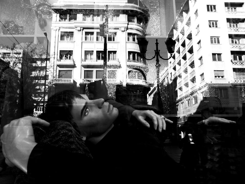 Photo in Street Photography #black&white #monochrome #street #city #reflections #mannequin #vitrine #dolls