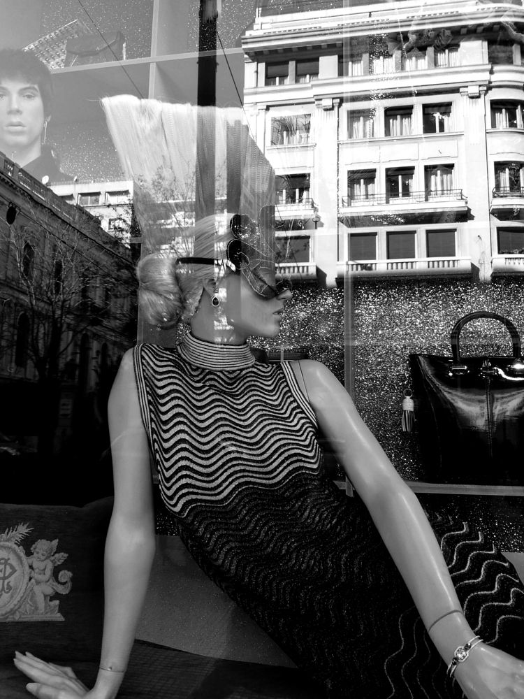 Photo in Street Photography #black&white #monochrome #street #mannequins #doll #vitrine #reflections #athens