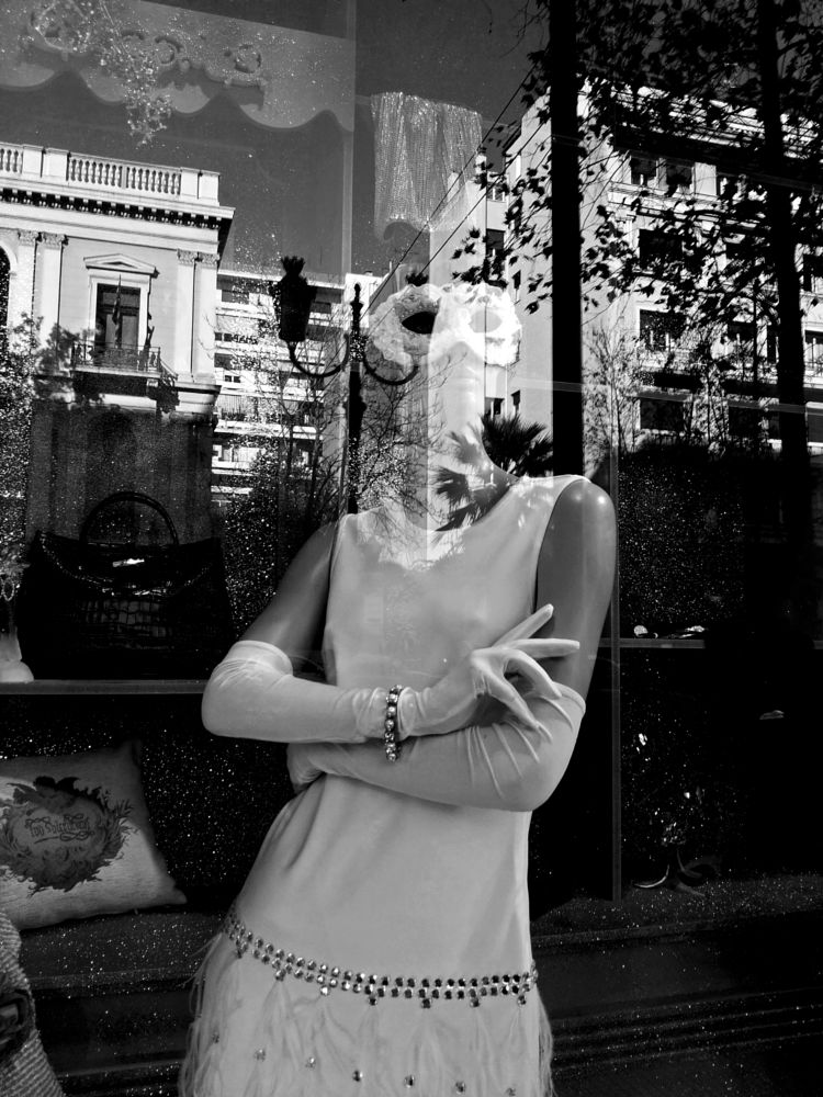 Photo in Street Photography #black&white #monochrome #city #reflections #mannequins #doll #athens