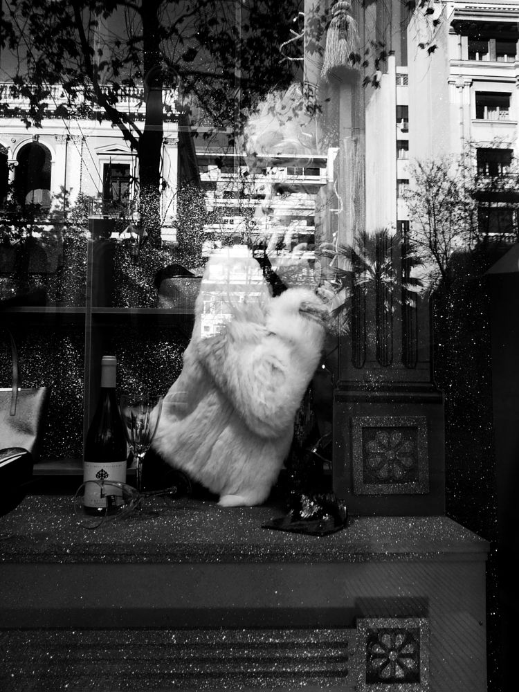 Photo in Street Photography #black&white #monochrome #street #mannequin #doll #reflections #city #athens